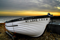 Boat on shingle, Felixstowe