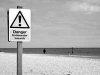 Beach danger mono