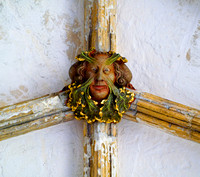 Green man ceiling boss Norwich Cathedral